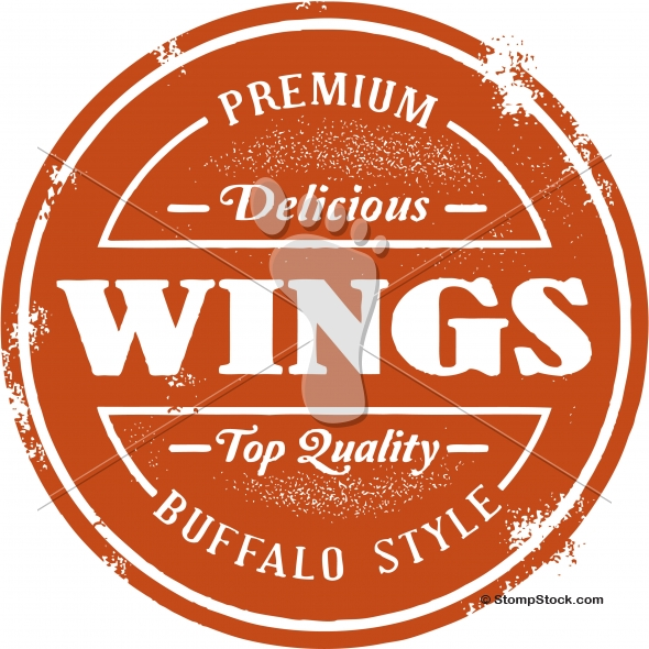 Buffalo Chicken Wings Menu Vector