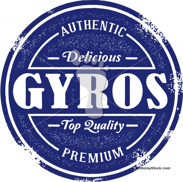 Authentic Greek Gyros Menu Design