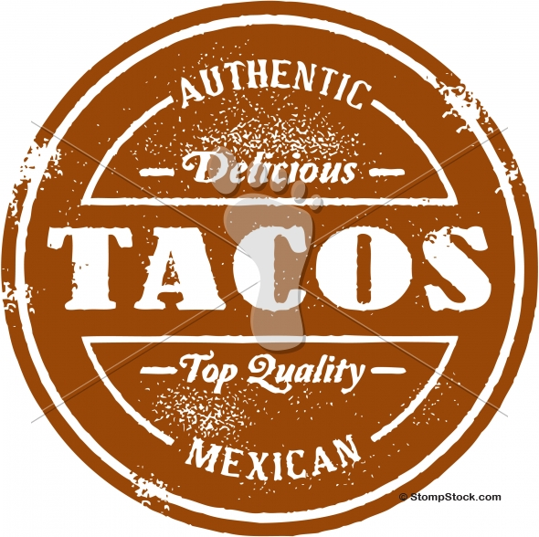 Authentic Mexican Tacos Menu Stamp